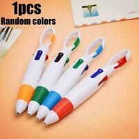 Cartoon Keychain Ballpoint Pen 4 Color Press Carabiner Pen K7D2
