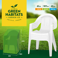 More details for garden stackable chair cover waterproof outdoor heavy duty strong stacking seat