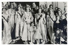 mm733 -Queen Elizabeth II & large family group - Coronation - Royalty photo 6x4""