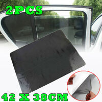 2x Sun Shades Cover Rear Side Seat Car Window Cling Visor Shield Baby Protection