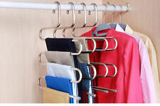 Multi-purpose Pants Hanger Trousers Tie Towel Rack Hanger S Shape 5 Layers