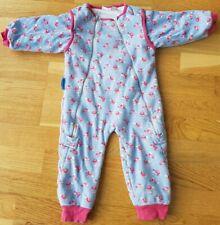 JoJo Maman Bebe 12-18 month sleep snuggler sleeping bag baby rose floral 2.5 tog