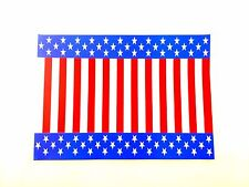 """50 Patriotic Dinner Size Paper Placemats 10"""" X 14"""" Stars and Stripes Design"""