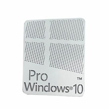 10X Windows 10 Pro Logo Metal Sticker for Computer/Laptop PC(17x22mm) USA S