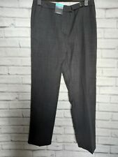 Womans M&S Charcoal Short Length Straight Trousers Size 14 New/Tags