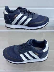Boys Adidas Originals Trainers Blue Synthetic Size 8.5k