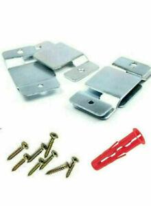 6 x Heavy Duty Interlocking headboard wall Bracket clips Sliding Flush mount