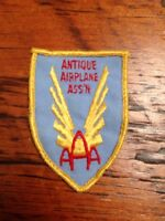 Vintage Antique Airplane Association AAA Gold Wing Embroidered Collectible Patch