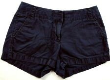 J Crew Women's Broken In Chino Shorts Size 4 Solid Blue 4 Pockets