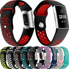 For Fitbit Charge 3 Watch Band Replacement Sport Silicone Breathable Wrist Strap