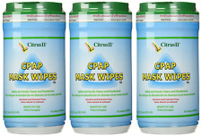 Citrus II Cpap Mask Wipes Qty: 62 Wipes - Pack of 3 New