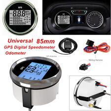 Univeresal 85mm Waterproof GPS Digital Speedometer Odometer Gauge Car SUV Marine