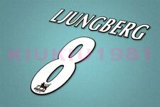 Arsenal Ljungberg #8 PREMIER LEAGUE 97-06 White Name/Number Set