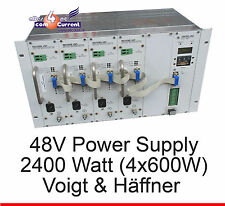 48 volts 2400w (4x 600w) alimentation power supply voigt et häffner DSLAM vuh onduleur
