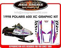 1998 POLARIS INDY XC 600 HOOD DECALS, SHROUD  700 440