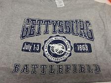 GETTYSBURG BATTLEFIELD CRACKLE GRAY T-SHIRT