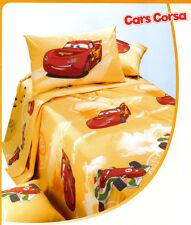 Copriletto in Panama non Trapuntato Cars Corsa Arancio 1 Piazza e Mezza Caleffi
