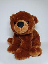 """Aurora teddy bear brown soft sitting small plush stuffed animal 10"""""""