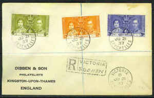 SEYCHELLES 1937 REGISTERED VICTORIA FDC OF KING GEORG