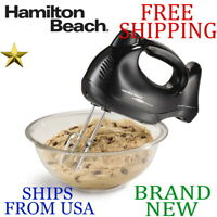 New Hamilton Beach 6 Speed HAND MIXER Electric, 2 beaters hooks whisk 275W Pulse