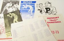 VINTAGE NCAA BASKETBALL 1972-73 INDIANA STATE UNIVERSITY PROGRAMS SCORE CARDS !!
