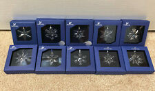 NIB Lot 10 Little Swarovski Crystal Annual Snowflake Christmas Ornaments 03-13