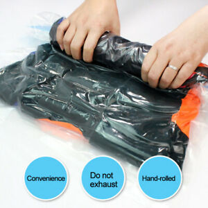 Hand-rolled Seal Compression Storage Bag Travel Space Saver Clothes Vacuum Bags