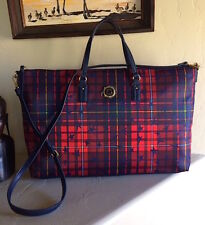 Tommy Hilfiger Julia Star Plaid Multi-Color XLarge Weekender NWT MSRP 148$+TAX