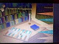 BACKGAMMON Champion jeu stratégie plateau In ENGLISH Windows 10/7/8 Instant Ship