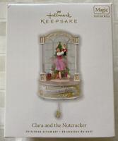 Hallmark Keepsake Ornament Clara and Nutcracker 2010 Magic Sound Motion Ballet