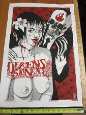 2005 Rock Roll Concert Poster Queens Of The Stone Age Brian Ewing S/N#250