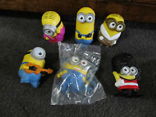 DESPICABLE ME....minions..MINIONS..lot of 6 toys,  ALL 2nd series!! one NIP