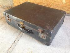 Ancienne valise de voyage en carton valisette vintage rangement vetements