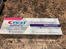 Crest 3D White Brillance Toothpaste Vibrant peppermint 4.1 0z(2-Packs)