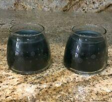 Longaberger Mini Candle Jar 2 pack - Evergreen Orange
