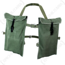 German Double Rifle Grenade Bags- Light Green Repro WW2 Ammo Bag Carrier Canvas