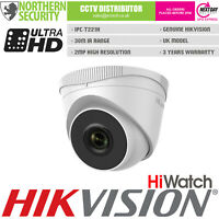 HiLook 2.8mm 2MP 30m IR POE Turret Onvif Network IP Home Security CCTV Camera