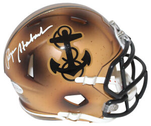 Roger Staubach Autographed Navy Midshipmen 2019 Bowl Mini Helmet BAS 31368