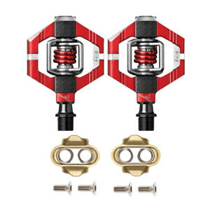 Crankbrothers MTB Bike Pedals - Candy 7 - Red / Red Spring, Cleats Included