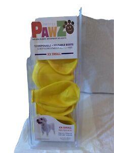 PawZ Dog Boots XX Small Yellow