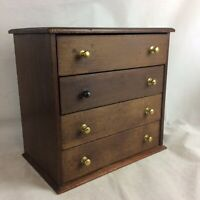 Antique Mahogany For Drawer Table Chest Collectors Cabinet