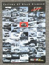 MITSUBISHI Carisma GT Evolution VI Black Diamond - Prospekt Brochure - 6 Seiten