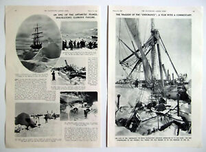 SIR ERNEST SHACKLETON'S ANTARTIC EXPEDITION Filmed With Commentary 1933 Article