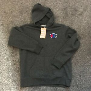 CHAMPION USA GREY HOODIE TOP MEN'S USED SIZE XS CL9