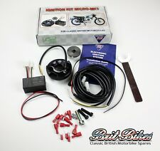 bsa, norton, triumph electronic ignition system kit wassell single & twins  mk1