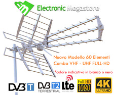 KIT ANTENNA DIGITALE TERRESTRE DTT COMBO COMBINATA UNICA UHF VHF MISCELATORE MIX