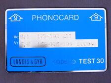 T 002 - Test kaart MINT Ongebruikt Nederland Landis & Gyr -  9