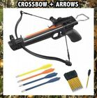 MINI Pistol Crossbow 50 LB ARCHERY HUNTING Gun W/ 15 BOLTS ARROWS XBOW NEW Set
