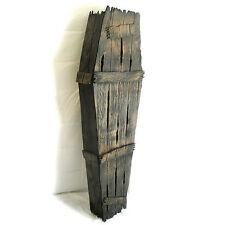 "5 Ft Coffin Faux Wood Halloween Graveyard Outdoor Decor Prop 60"""