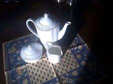 Villeroy & Boch Bone China Arco Gold Coffee Pot,Creamer,Sugar Holder with Lid